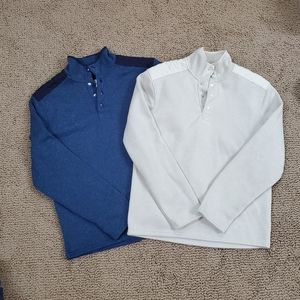 2 Goodfellow & Co 1/4 button sweatshirts